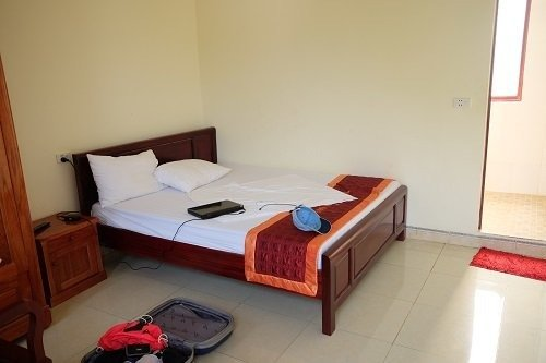 Sao Mai Hotel pic of double bed in the room