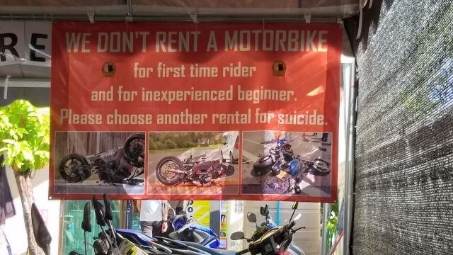 Cat Motors do not rent to inexperienced riders