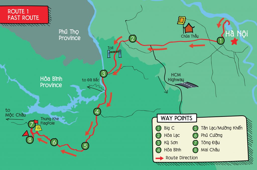 hand drawn map to Mai Chau